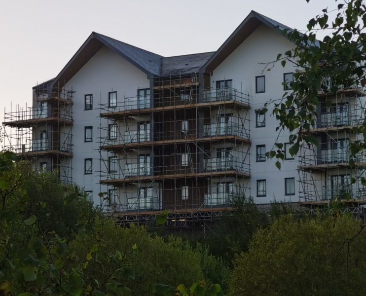 Domestic scaffolding by Hewaswater Residential Scaffolding Services Devon