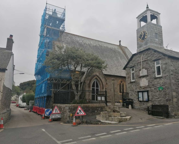 Commercial scaffolding by Hewaswater Commercial Scaffolding Services in Grampound, Cornwall