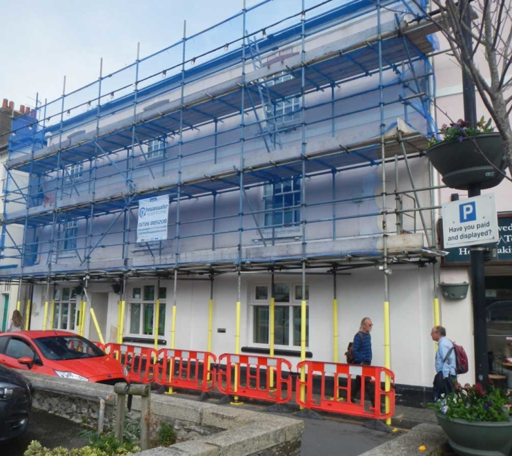 Commercial scaffolding by Hewaswater Commercial Scaffolding Services Cornwall